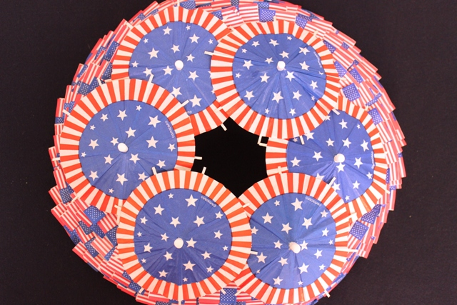 DIY 4th of July Wreath With American Flag Toothpicks