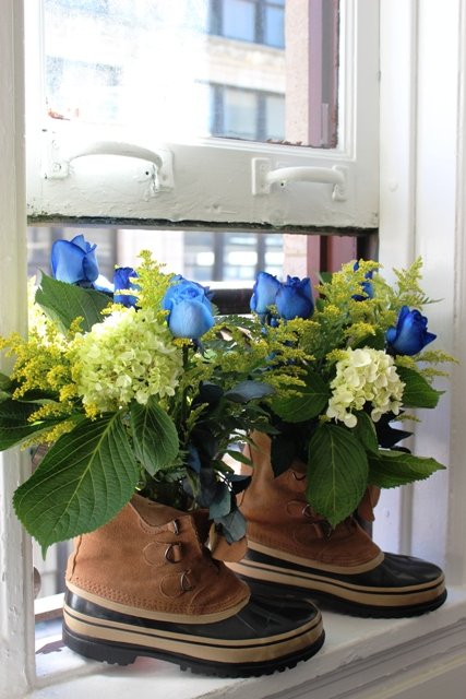 Father's Day Construction Boot Bouquet