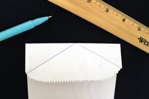 How to Trace Lines on a Paper Bag to Create a Collared Shirt