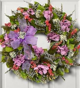 Lavender Hydrangea Wreath