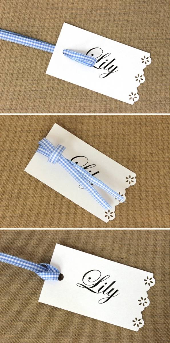 Ribbon Looped Through Place Card