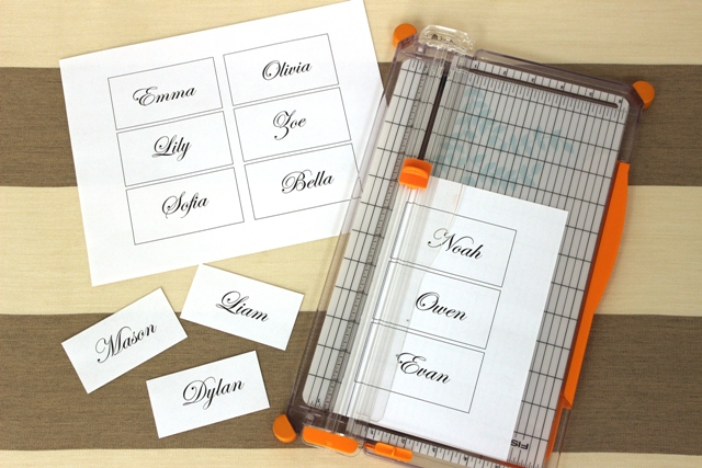 Trimmed Place Card Templates