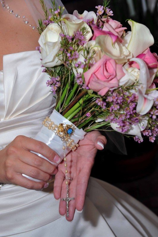 Kerri Holding Her Personalized Fall Bridal Bouquet