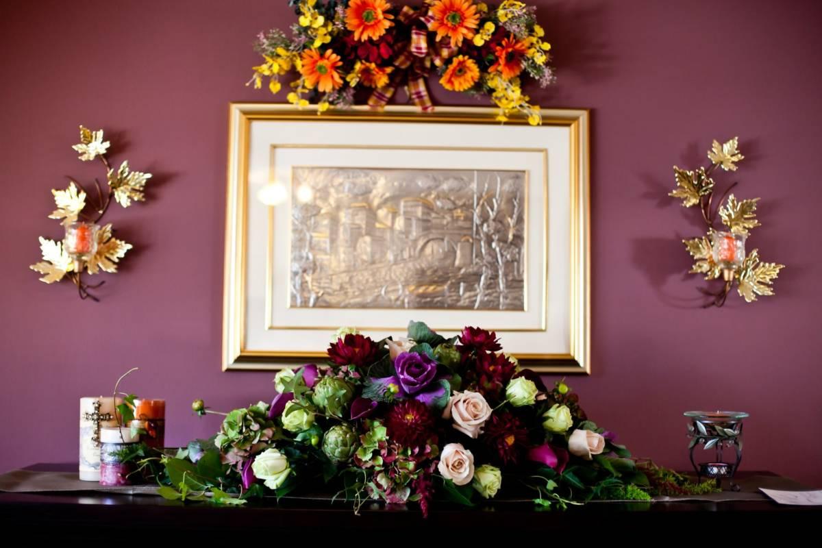 Unique Fall Wedding Centerpieces: Real Fall Wedding Inspiration: Marianna's Vineyard Wedding