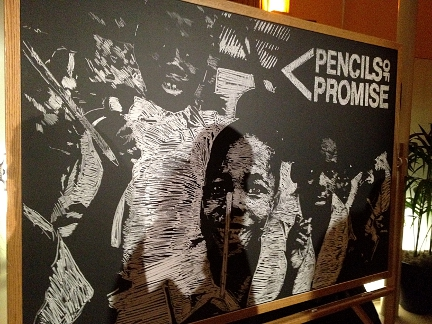 Pencils of Promise Artwork of Their Students by Chalkboard Artist Casey Opstad