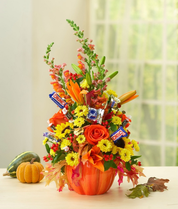 Halloween Flower Centerpiece DIY with Candy