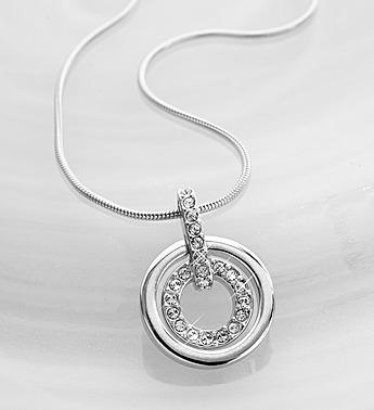 Swarovski Crystal Circle Necklace
