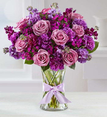 Shades of Purple Flowers Arrangement