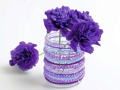 How To Make A Flower Vase Using Beads Flowers Healthy