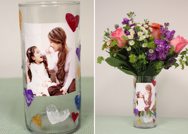 Mother's Day Crafts for Kids DIY Photo Vase
