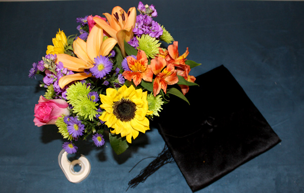 diy-graduation-cap-centerpiece-with-flowers-supplies