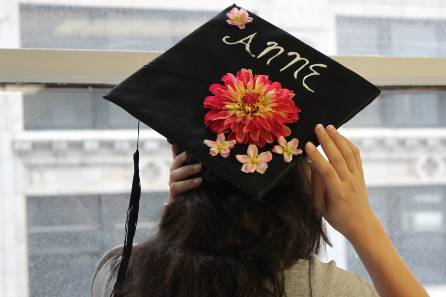 How To Decorate A Graduation Cap With Flowers Petal Talk