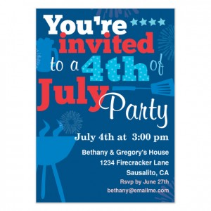 fourth of july party invitation celebrations