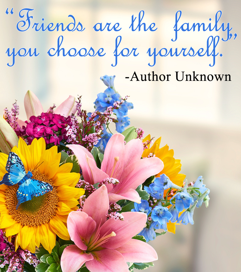Inspirational friendship quotes petal talk - Flowers that mean friendship ...