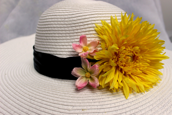 how to make a flower hat