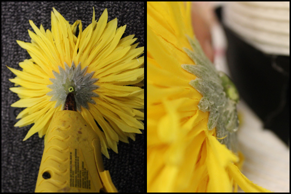 how to make a flower hat glue