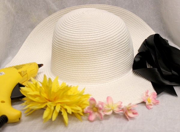 how to make a flower hat supplies