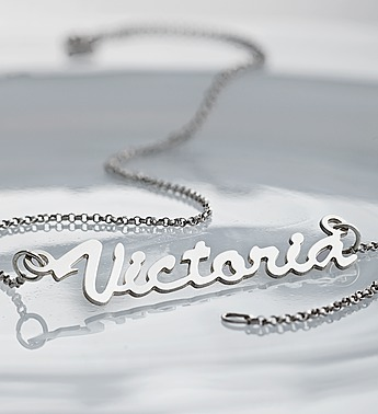 personalized sterling silver name necklace 139074
