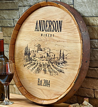 personalized vineyard wine barrel 89984