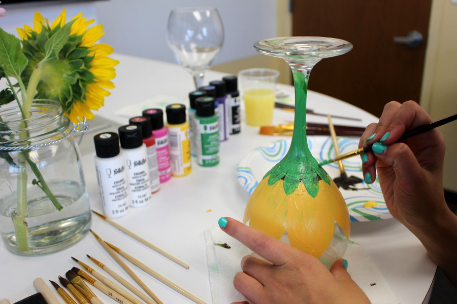 Stem Wine Glass Painting