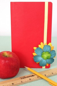 Decorate Back to School Notebooks with Flowers