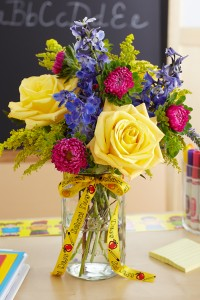 DIY Back to School Flowers and Vase