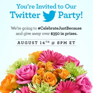 RSVP and #CelebrateJustBecause
