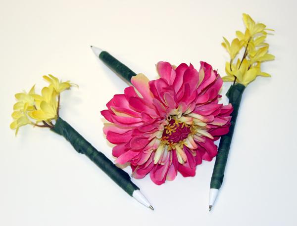 Diy office supplies how to make a flower pen