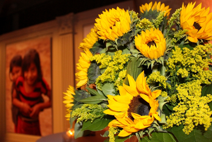 sunflowers at PoP Gala 2014