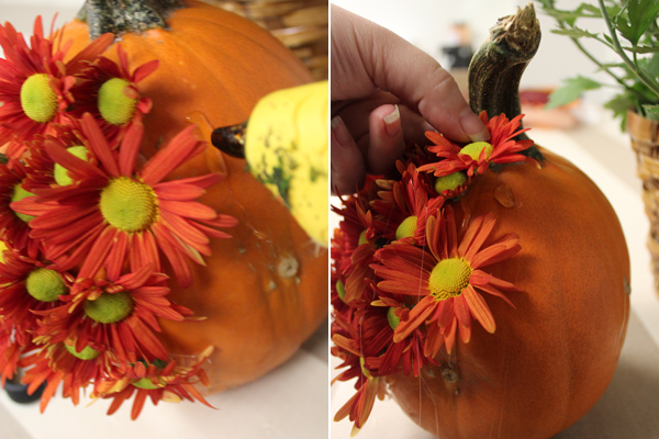 diy-flower-pumpkins-glue