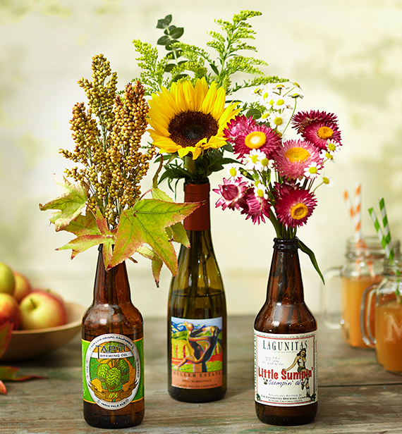 beer-wine-bottle-floral-arrangement