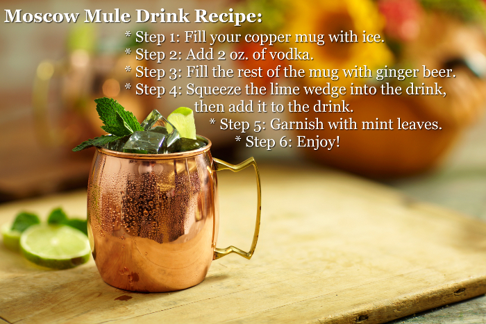 Moscow Mule Drink Recipe with Vodka, Lime, and Mint