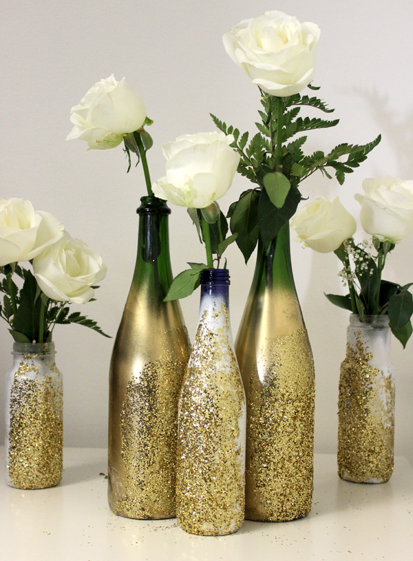 Diy Glitter Vase For Nye Petal Talk