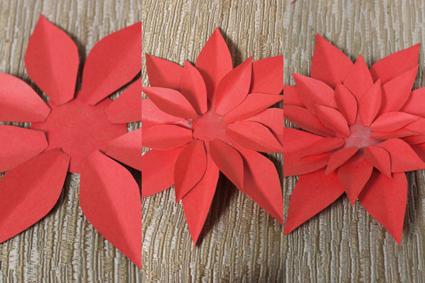 How to make paper poinsettias petal talk how to make paper poinsettias flower mightylinksfo