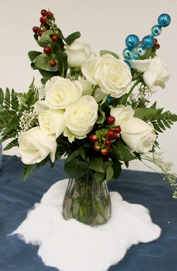 how-to-turn-white-bouquet-into-winter-flower-arrangement