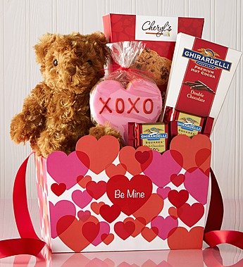 02-02-15 From My Heart Valentine Bear & Sweets Basket