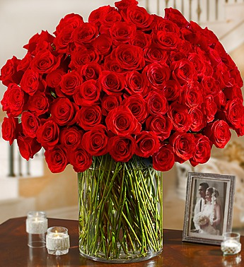 02-11-15 100 Premium Long Stem Red Roses