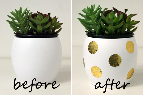 diy-planter-gold-foil-decorating-before-after-text