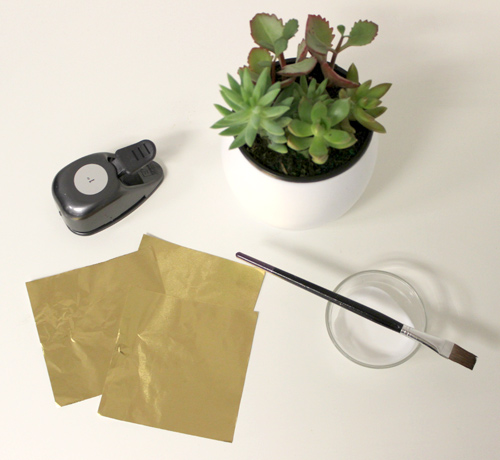 diy-planter-gold-foil-decorating-supplies