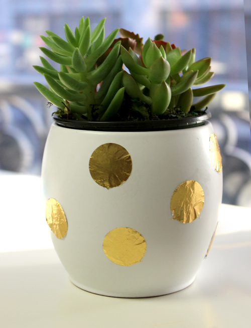 diy-planter-gold-foil-decorating