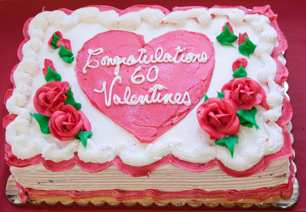 Congratulations Jerry on 60 Valentine's Days