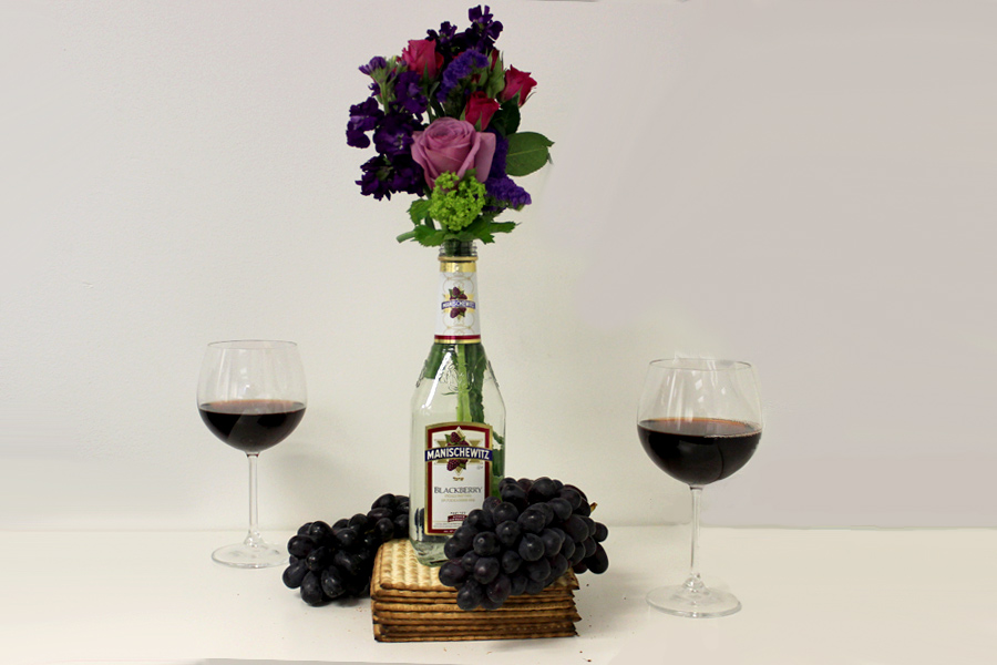 DIY-Manischewitz-Passover-Centerpiece-with-Flowers