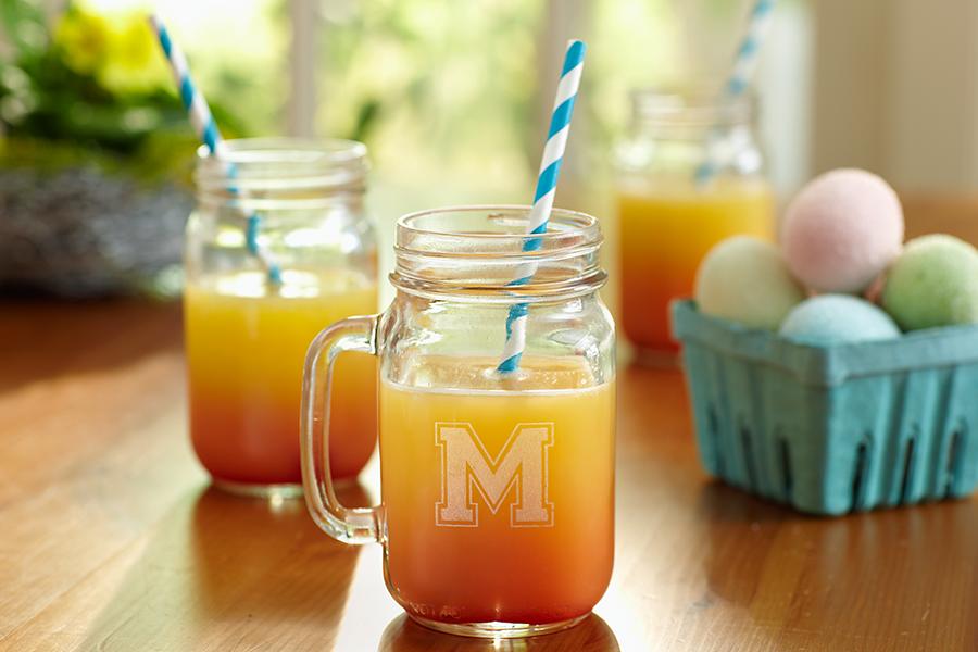 Easter Drink Monogrammed Mason Jar