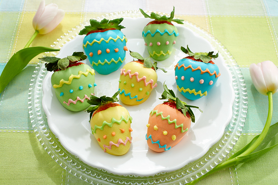 Easter Egg Chocolate Covered Strawberries