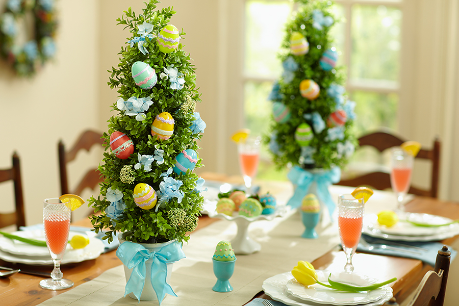 Easter Egg Topiaries for Table