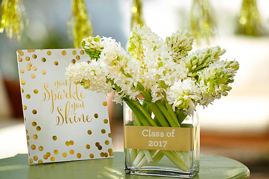 Class of 2017 Graduation Flower Vase