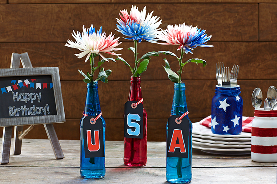 july-fourth-flower-vase-bottles