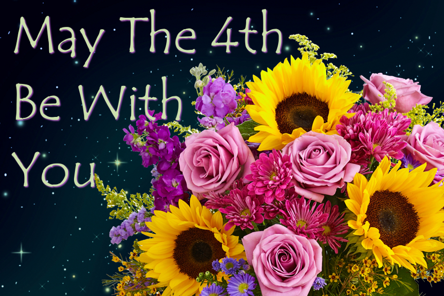 May the 4th be with you Star Wars flowers