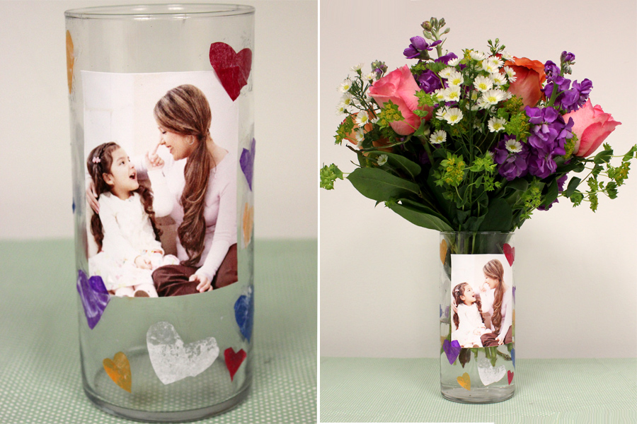 Mothers Day Crafts For Kids Diy Photo Vase