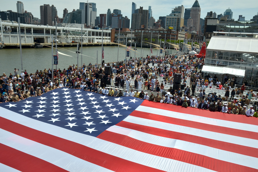 uss-intrepid-memorial-day-ceremony-american-flag